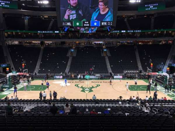 Fiserv Forum, section: 106, row: 21, seat: 9