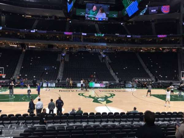 Fiserv Forum, section: 106, row: 10, seat: 20
