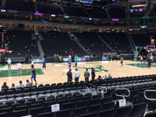 Fiserv Forum, section: 107, row: 8, seat: 7