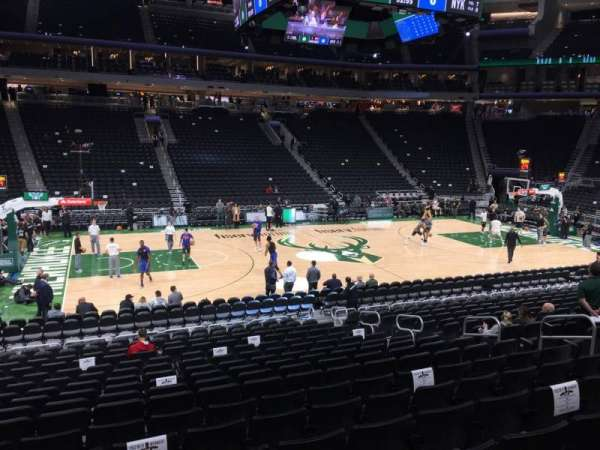 Fiserv Forum, section: 107, row: 15, seat: 10