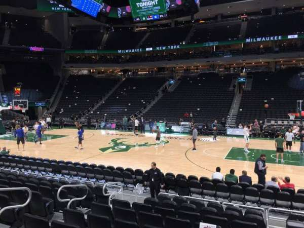 Fiserv Forum, section: 105, row: 8, seat: 12
