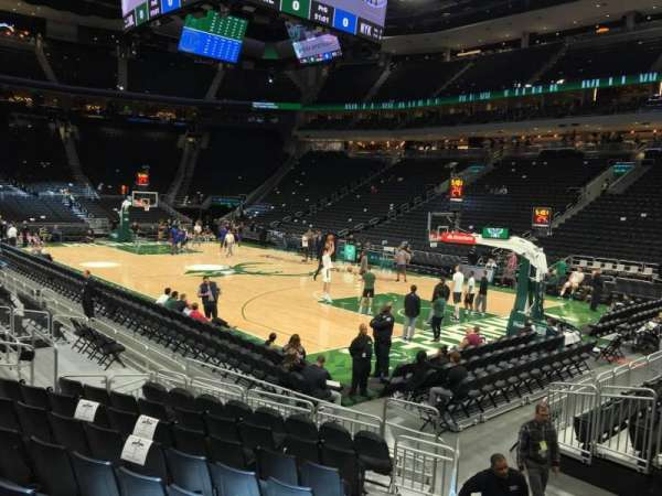 Fiserv Forum, section: 103, row: 9, seat: 12
