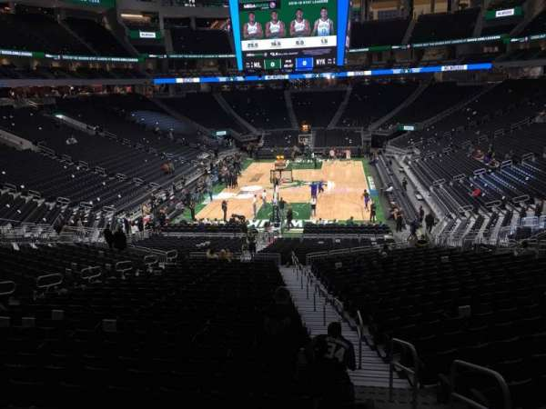 Fiserv Forum, section: 112, row: 28, seat: 1