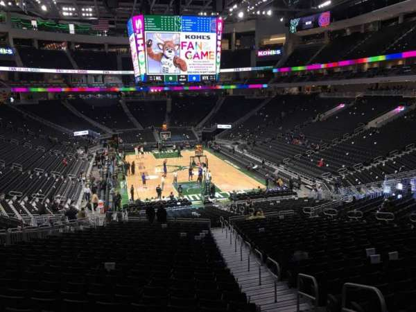 Fiserv Forum, section: 113, row: 28, seat: 1