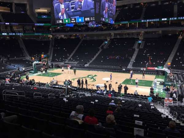 Fiserv Forum, section: 116, row: 22, seat: 6