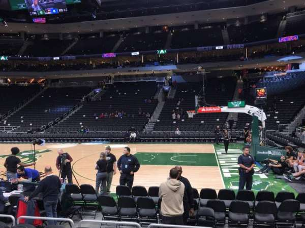Fiserv Forum, section: 116, row: 4, seat: 6