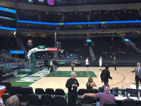 Fiserv Forum, section: 118, row: 2, seat: 5
