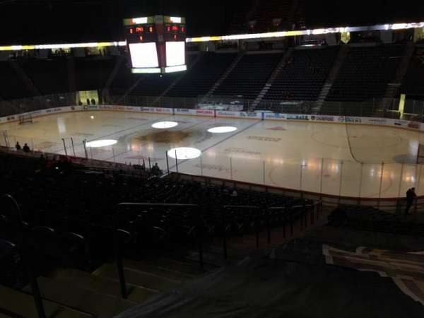 FirstOntario Centre, section: 105, row: 26, seat: 15