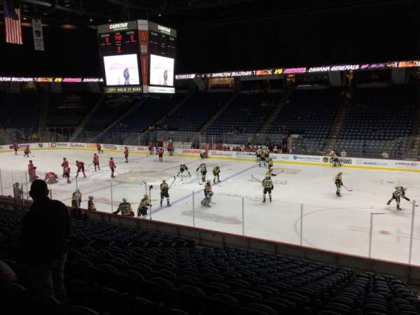 FirstOntario Centre, section: 120, row: 17, seat: 4