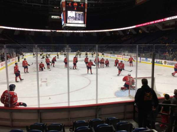 FirstOntario Centre, section: 102, row: 7, seat: 5