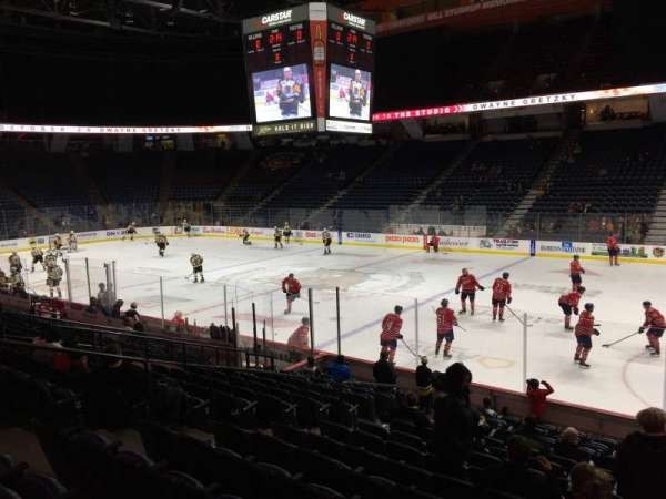 FirstOntario Centre, section: 106, row: 14, seat: 8