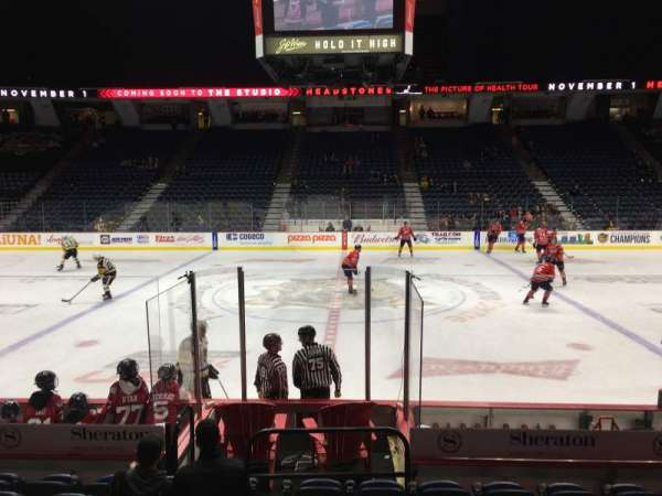 FirstOntario Centre, section: 108, row: 9, seat: 7
