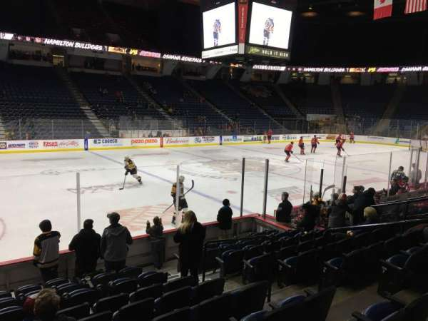 FirstOntario Centre, section: 110, row: 10, seat: 6
