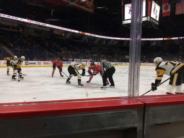 FirstOntario Centre, section: 112, row: 1, seat: 2