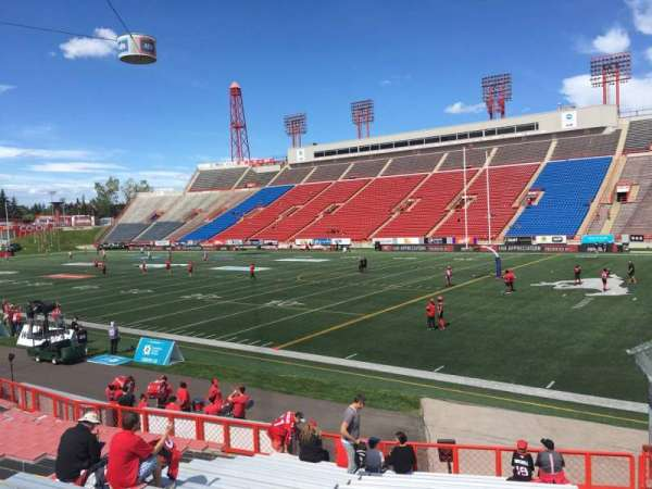 McMahon Stadium, section: A, row: 18, seat: 14