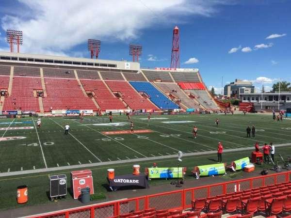 McMahon Stadium, section: G, row: 11, seat: 9