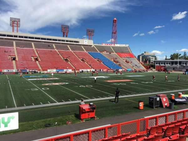 McMahon Stadium, section: H, row: 8, seat: 10