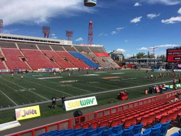 McMahon Stadium, section: I, row: 12, seat: 9