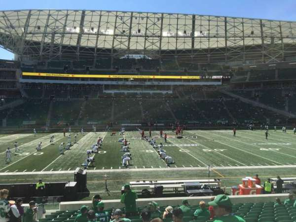 Mosaic Stadium, section: 139, row: 16, seat: 18