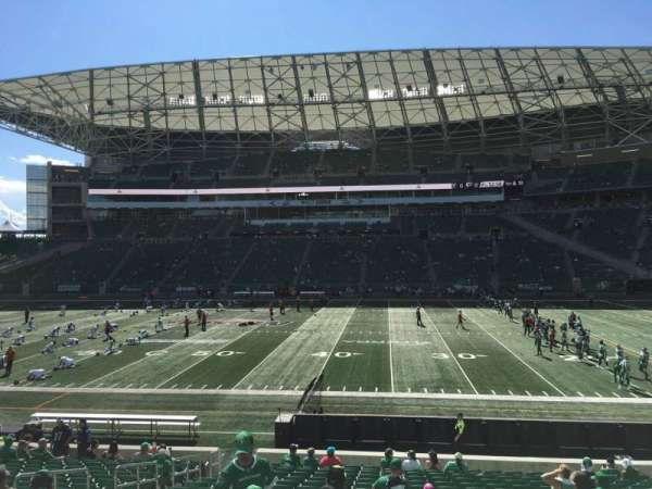 Mosaic Stadium, section: 137, row: 20, seat: 18