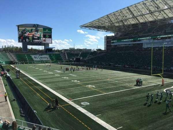 Mosaic Stadium, section: 130, row: 14, seat: 22