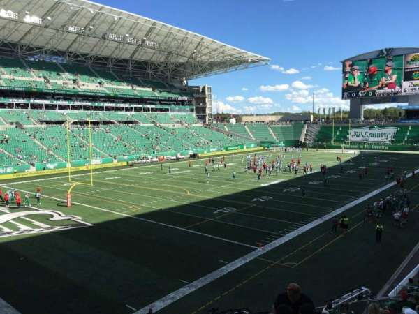 Mosaic Stadium, section: 122, row: 17, seat: 25