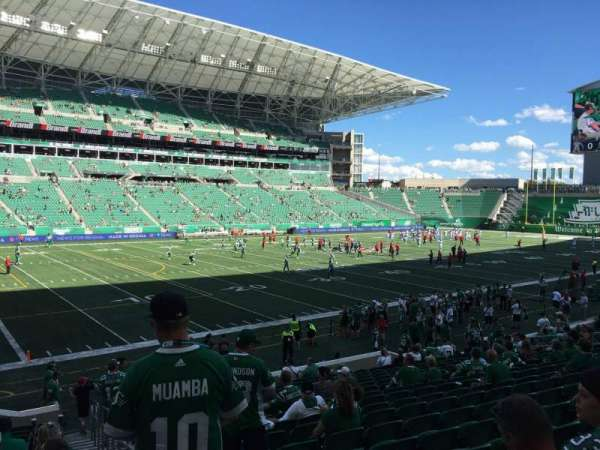 Mosaic Stadium, section: 119, row: 19, seat: 1