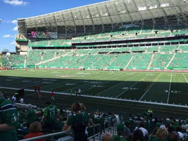 Mosaic Stadium, section: 111, row: 20, seat: 26