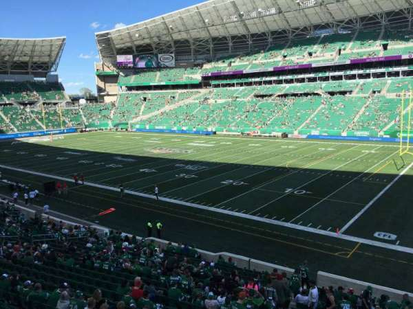 Mosaic Stadium, section: 110, row: 19, seat: 1