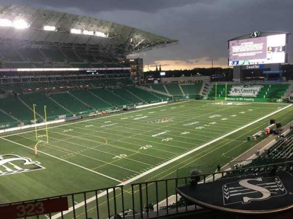 Mosaic Stadium, section: 323, row: Barrail