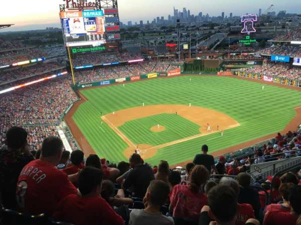 Citizens Bank Park, section: 419, row: 15, seat: 4