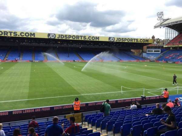 Selhurst Park, section: D, row: 16, seat: 80