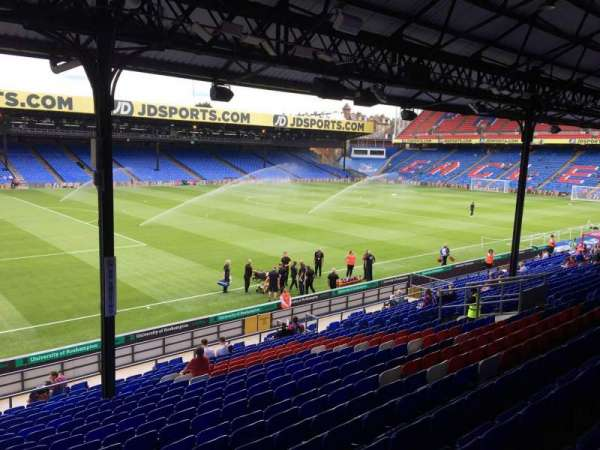 Selhurst Park, section: A, row: 24, seat: 20
