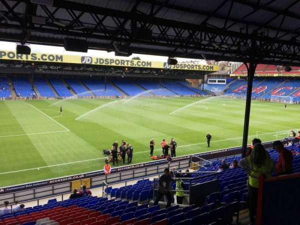 Selhurst Park, section: B, row: 25, seat: 34