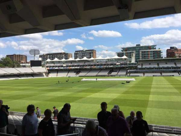 Lord's Cricket Ground, section: Grandstand A, row: 15, seat: 41
