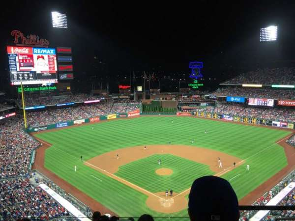 Citizens Bank Park, section: 421, row: 7, seat: 4