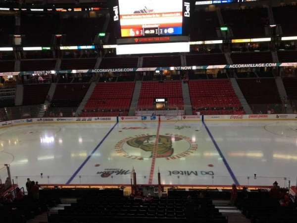 Canadian Tire Centre, section: 208, row: C, seat: 6