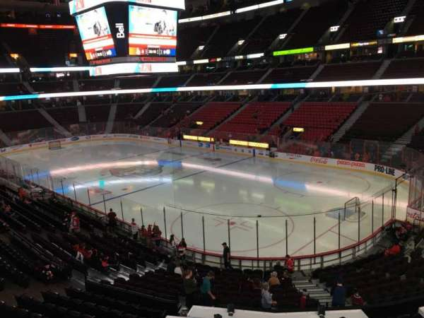 Canadian Tire Centre, section: 218, row: B, seat: 9