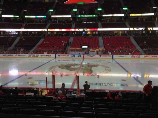Canadian Tire Centre, section: 106, row: M, seat: 6