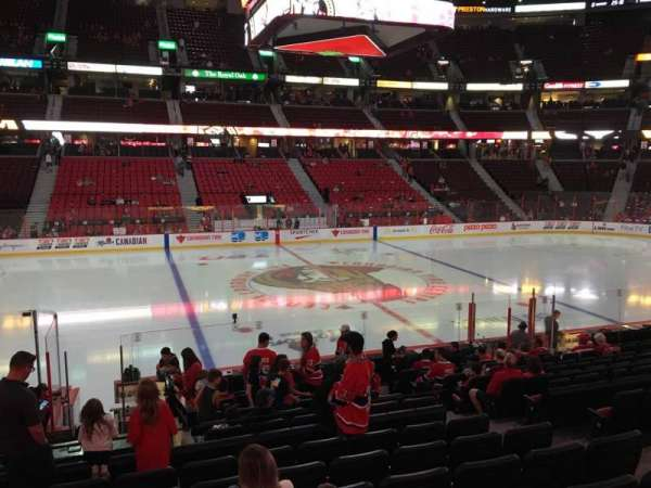 Canadian Tire Centre, section: 107, row: P, seat: 7