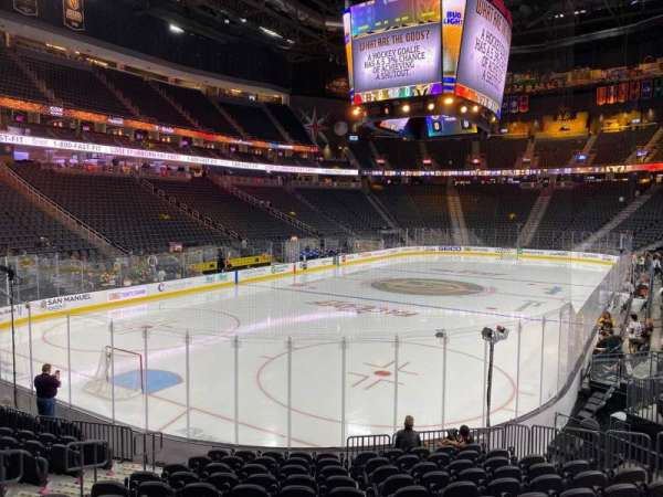 T-Mobile Arena, section: 12, row: M, seat: 9
