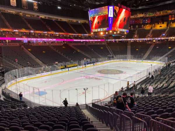 T-Mobile Arena, section: 12, row: V, seat: 23