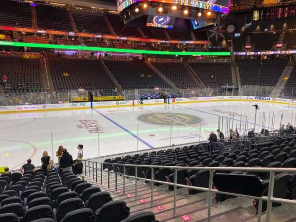 T-Mobile Arena, section: 14, row: L, seat: 13