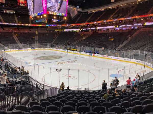 T-Mobile Arena, section: 19, row: P, seat: 6
