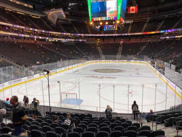 T-Mobile Arena, section: 1, row: M, seat: 12
