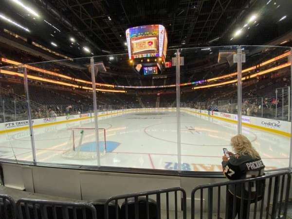 T-Mobile Arena, section: 1, row: B, seat: 6