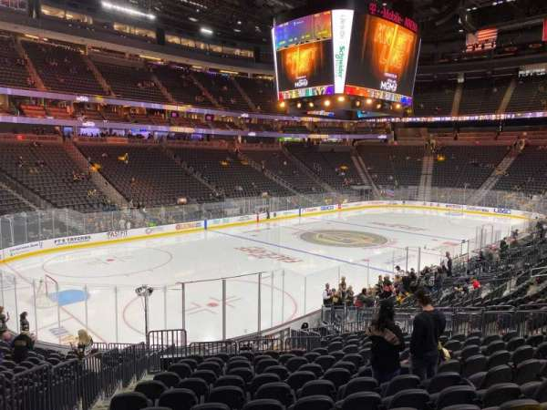 T-Mobile Arena, section: 3, row: S, seat: 4
