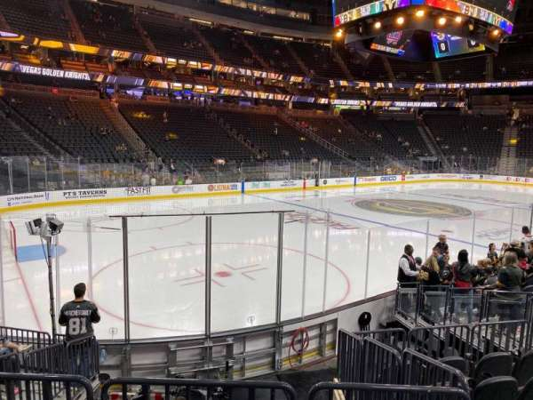 T-Mobile Arena, section: 3, row: H, seat: 5