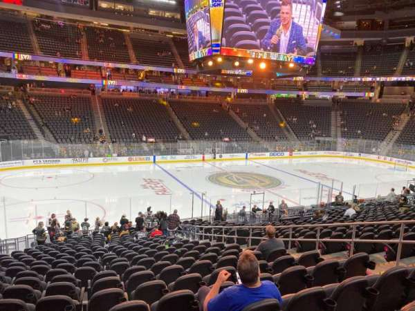 T-Mobile Arena, section: 4, row: T, seat: 12