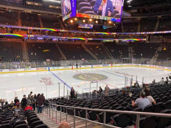 T-Mobile Arena, section: 4, row: P, seat: 16